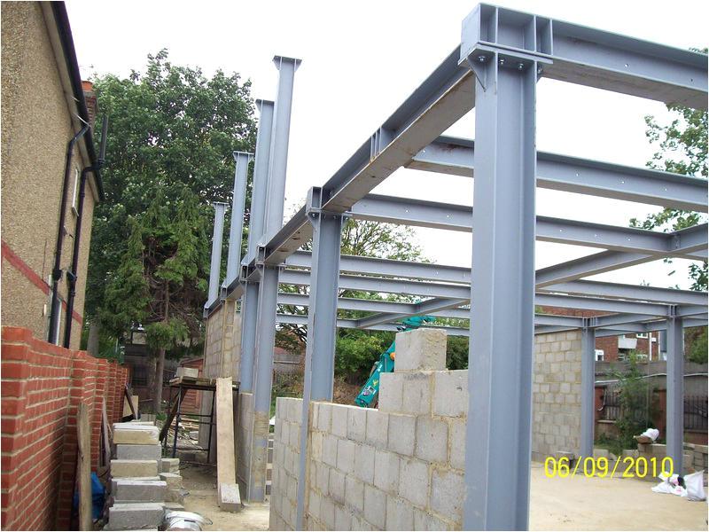 steel beam house