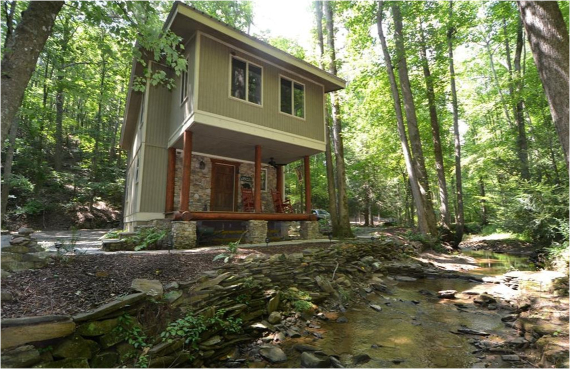 Stone Creek House Plan for Sale Jasper Georgia Creekside Woodland Cabin for Sale