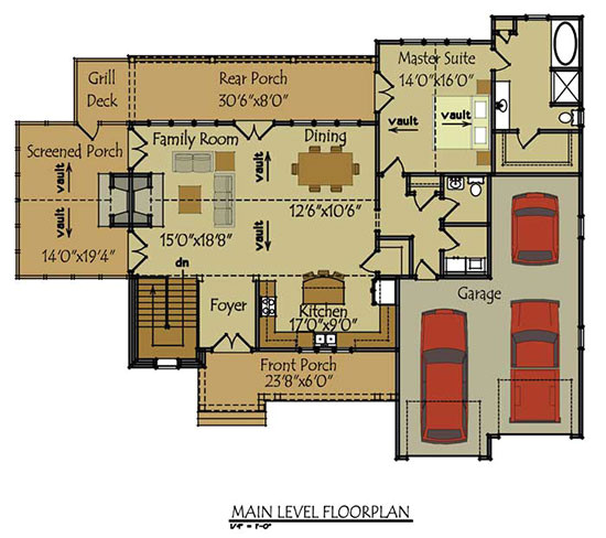 olde stone cottage house plan