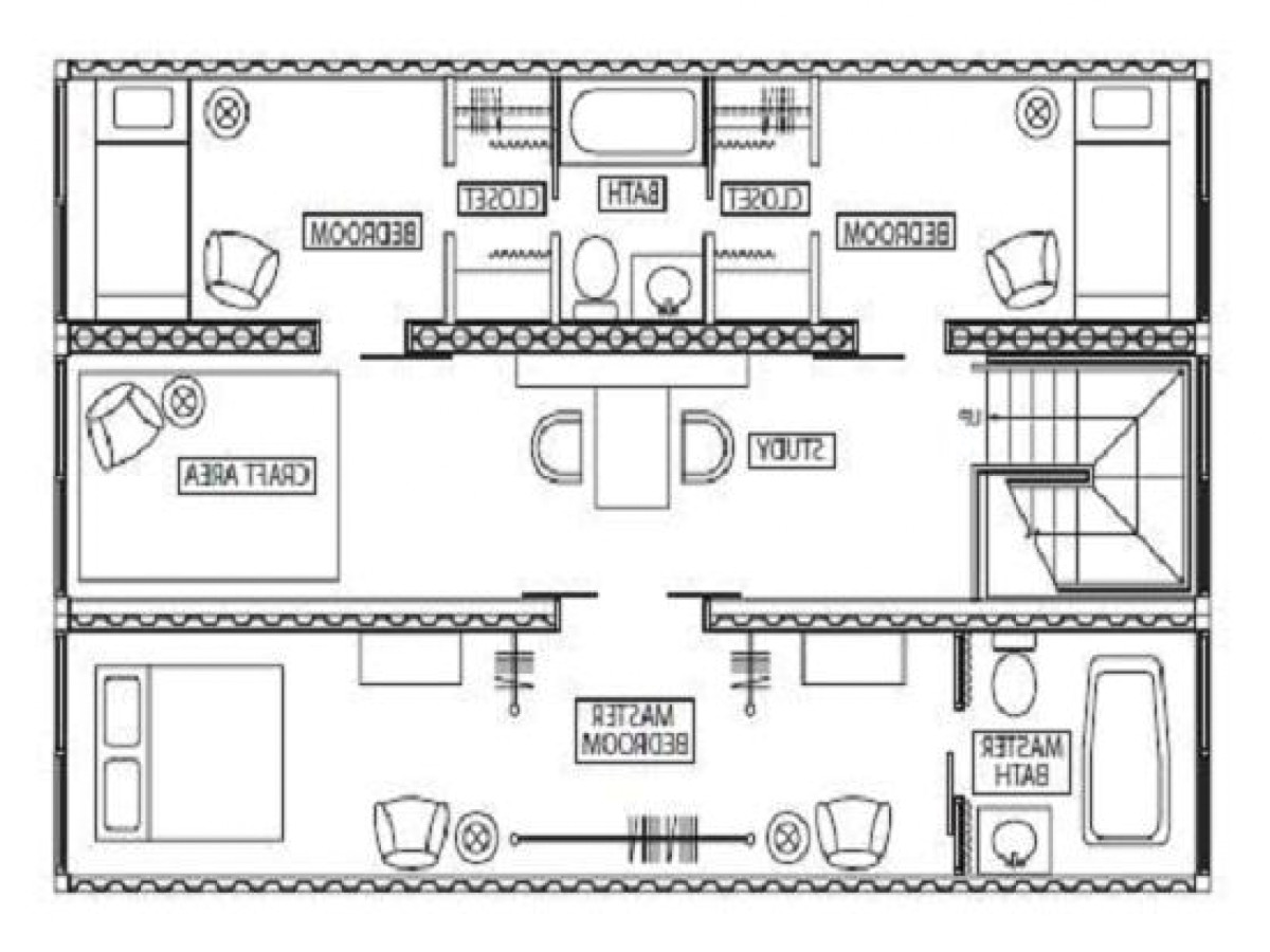 iso container floor plans
