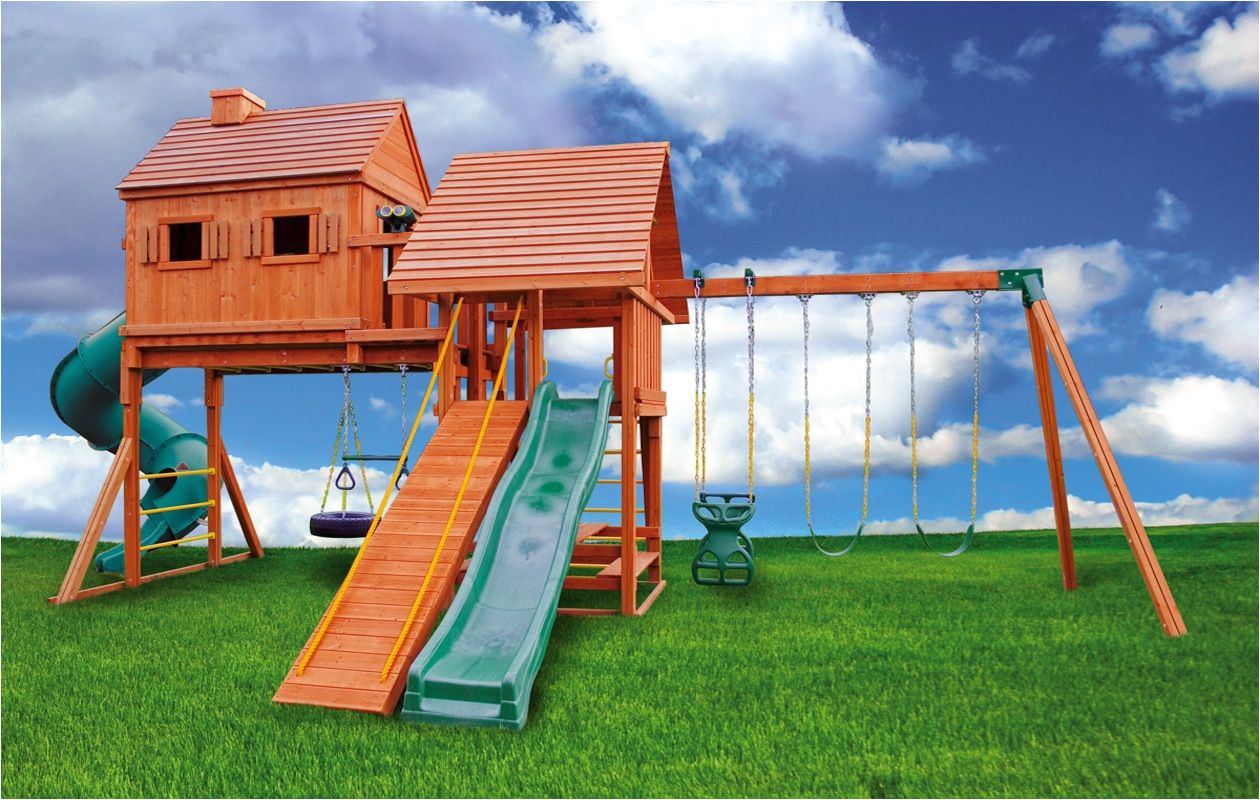 tree house plans with swing set