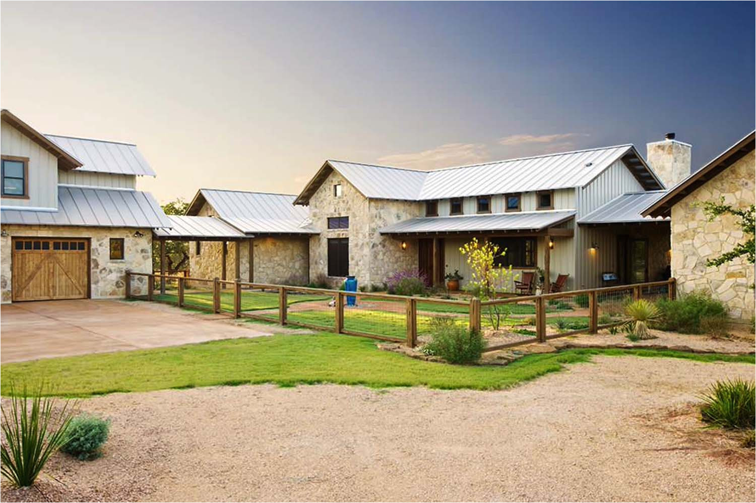 rustic ranch house design texas