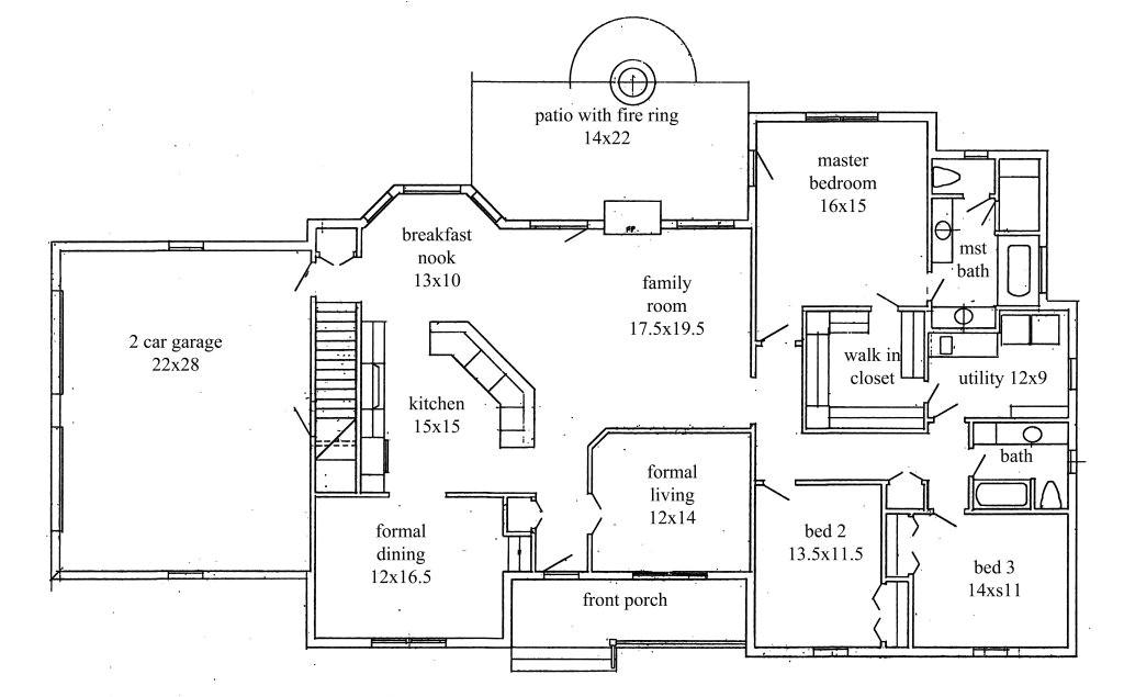 texas ranch house floor plans