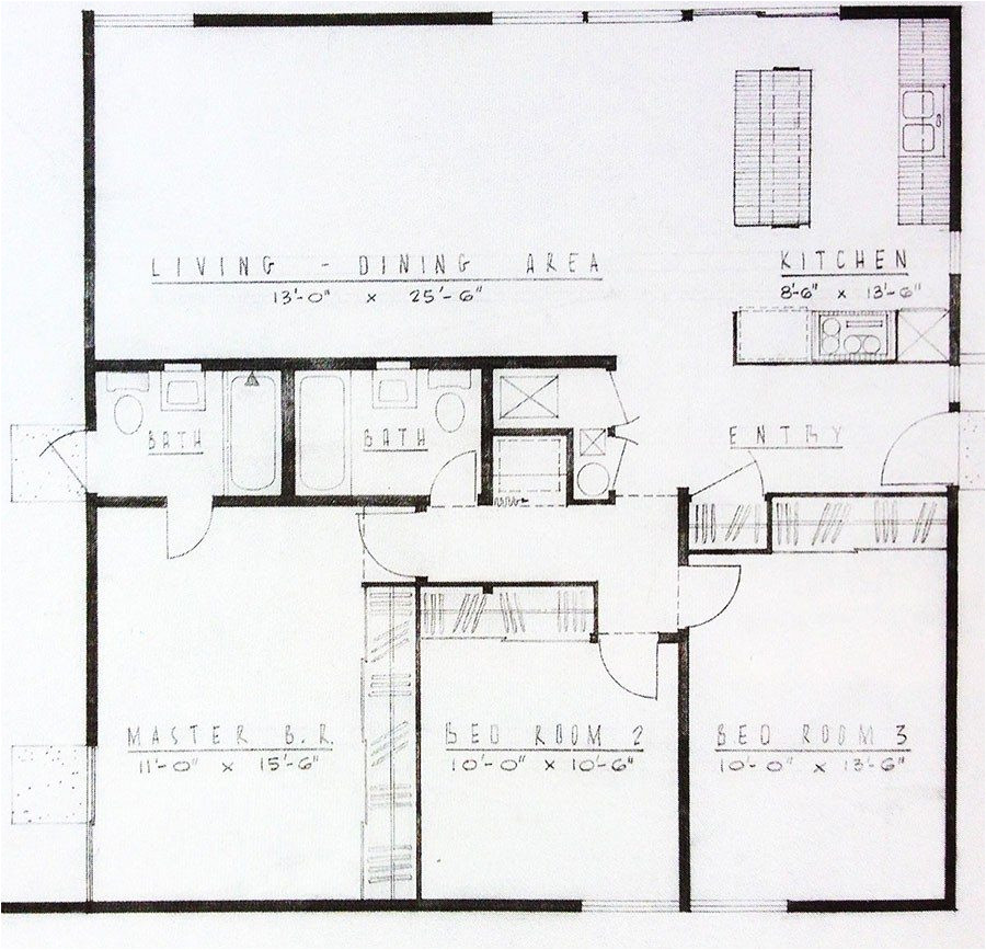 mid century modern homes floor plans