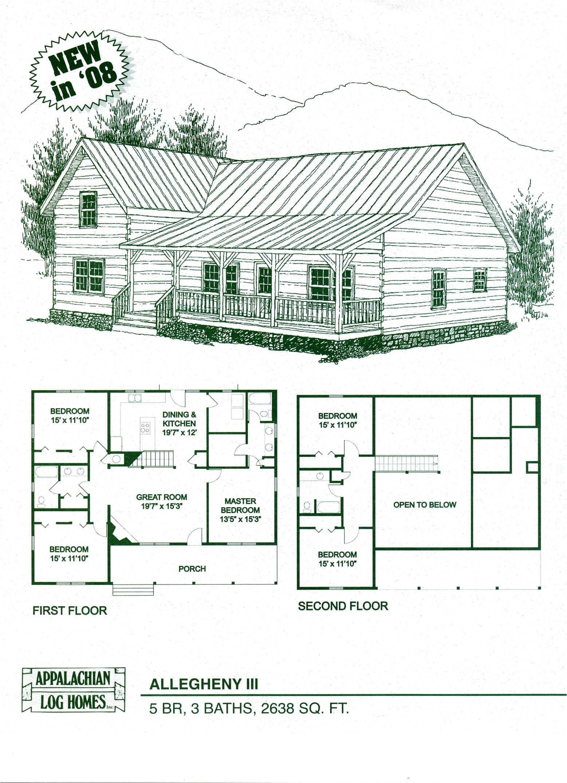 log cabin floor plan kits