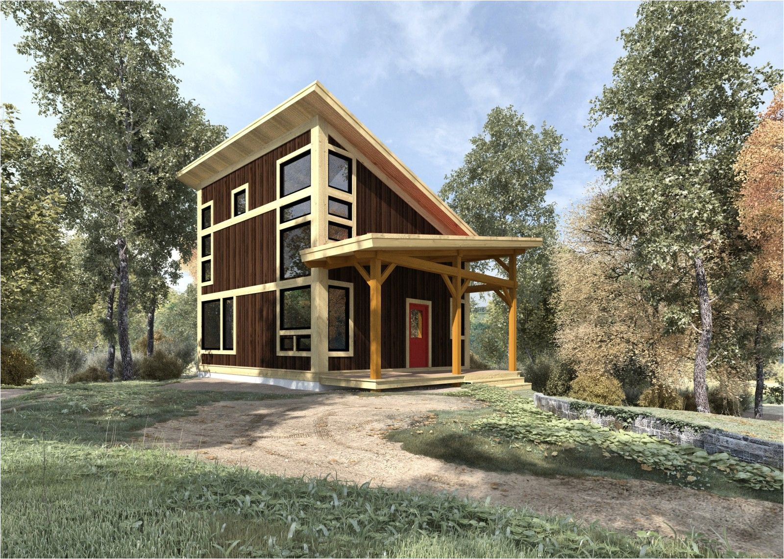 small timber frame house plans