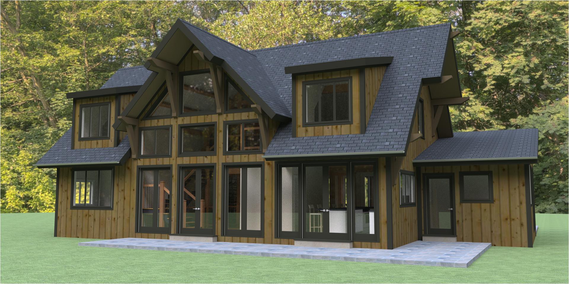 Timber Frame Home Plans Hybrid Timber Frame House Plans