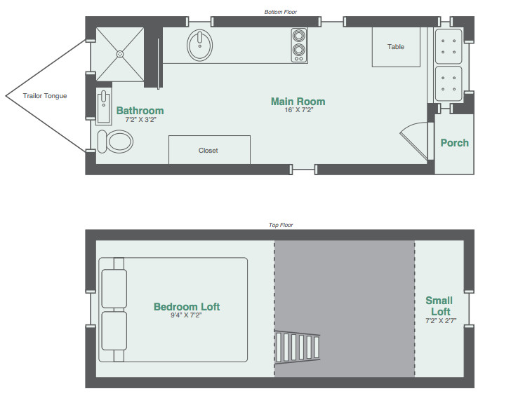 tiny house floor plan with garage