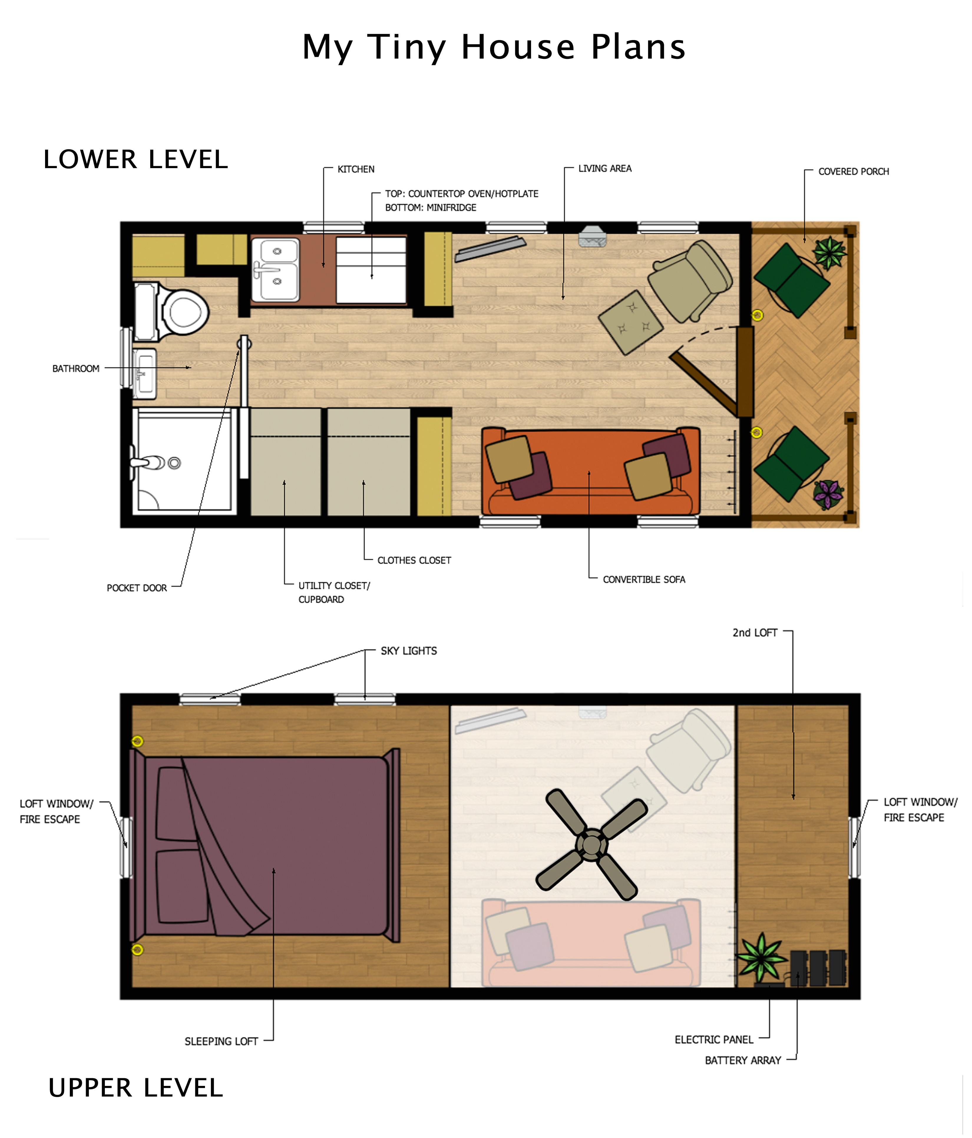 Tiny Home Floor Plan Tiny House Plans My Life Price