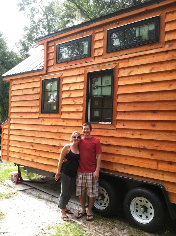 interior of tiny home builders tiny living house with dan louche