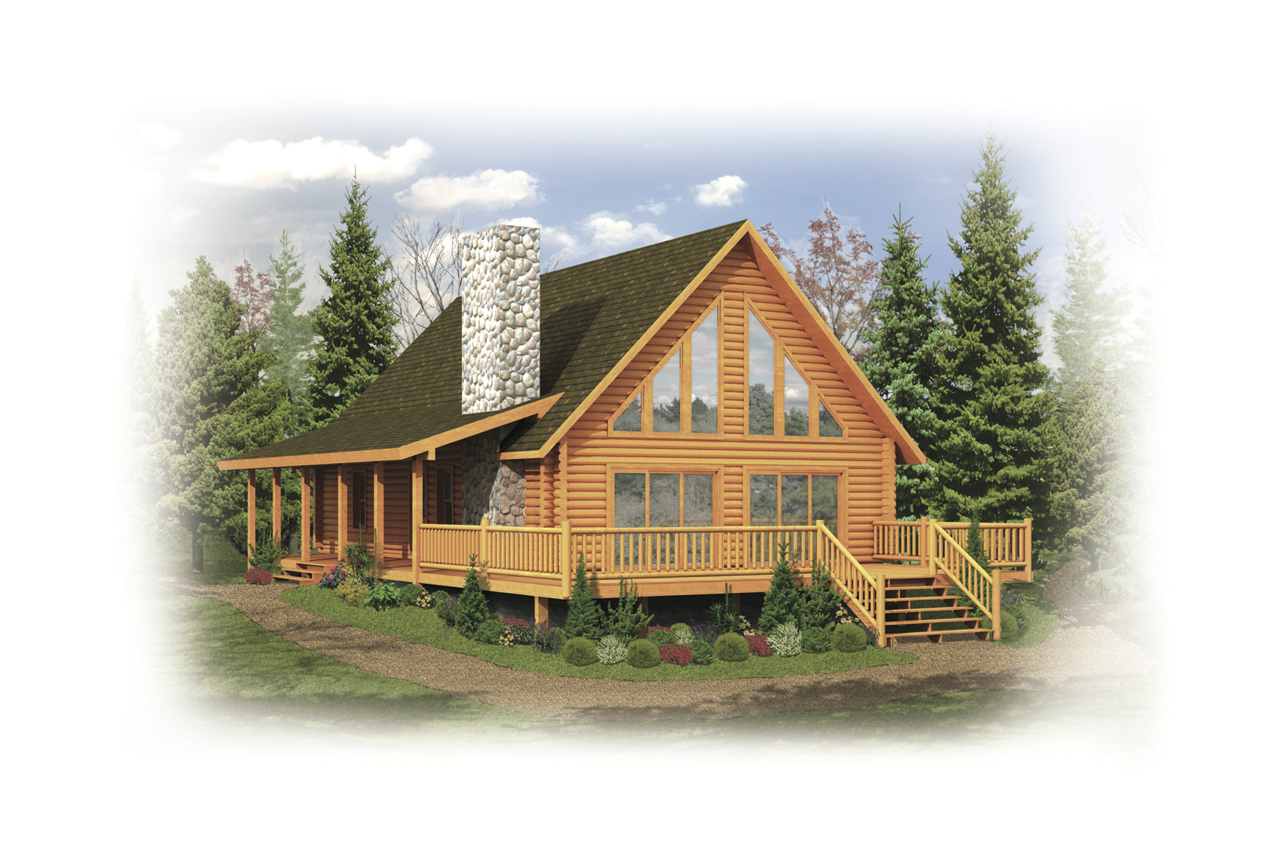 tomahawk log home plan