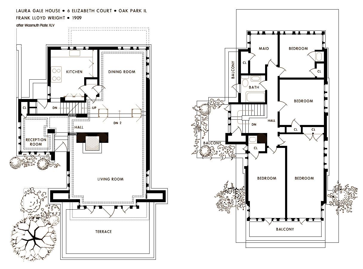 frank lloyd wright waterfall house floor plans