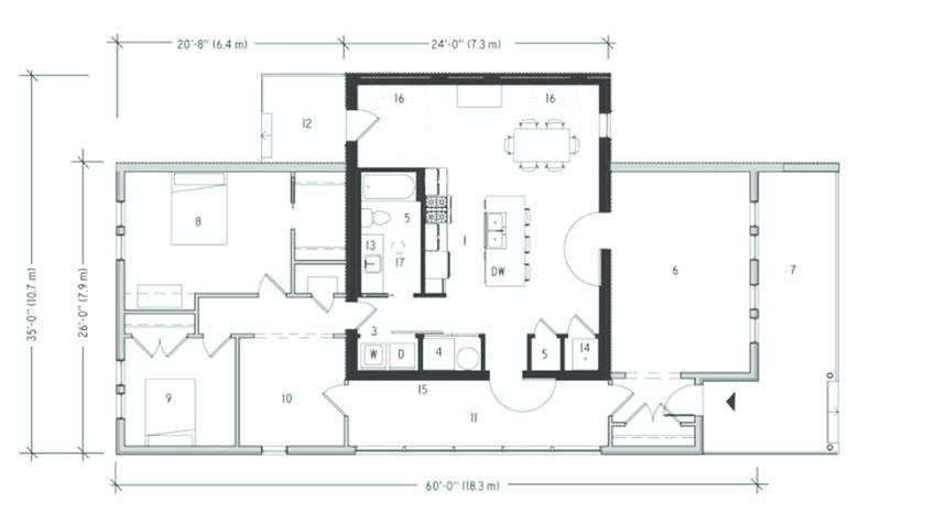 first floor plan of tornado proof house by q4 team source wwwinhabitatcom fig1 312248417