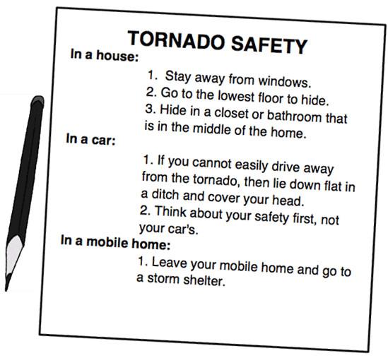 tornado safety plan