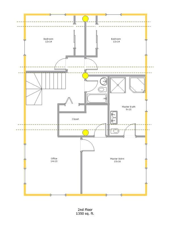 traditional log cabin floor plans