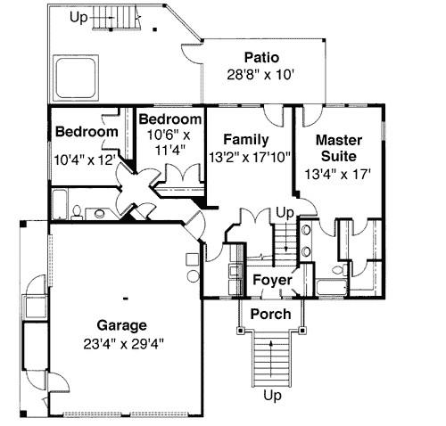 tri level house plan with loft overlook 72197da