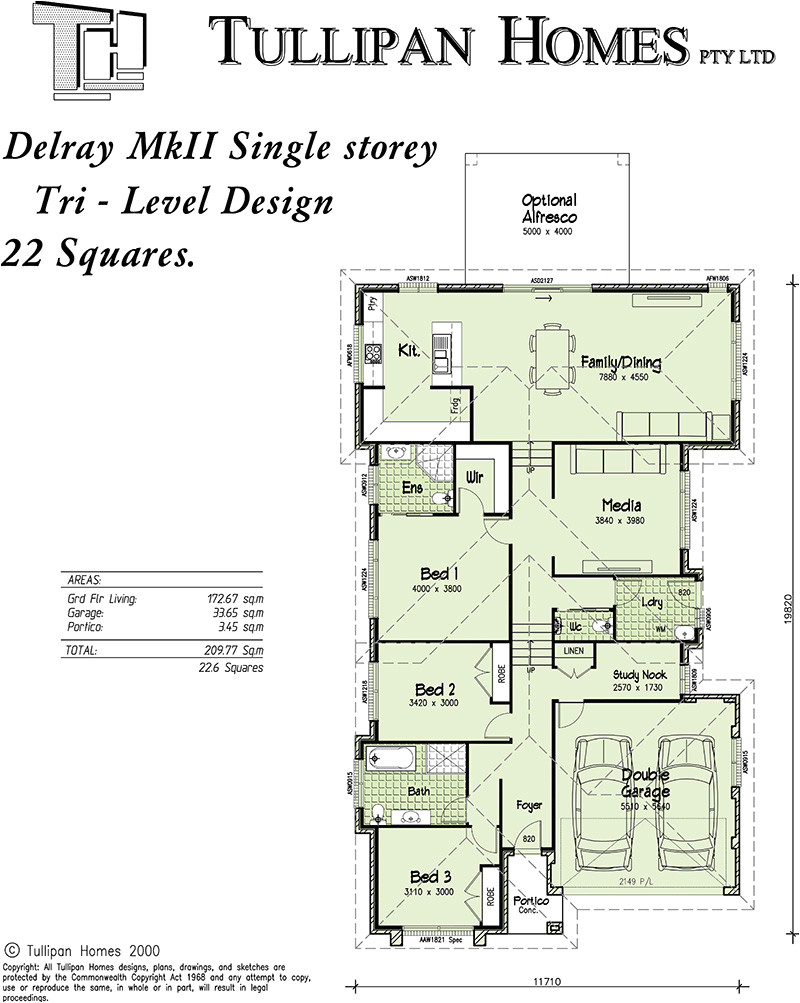 delray mkii tri level upslope design
