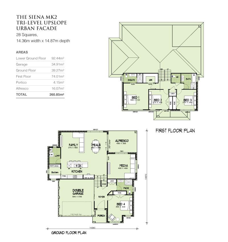 sienna mkii tri level upslope 28 squares