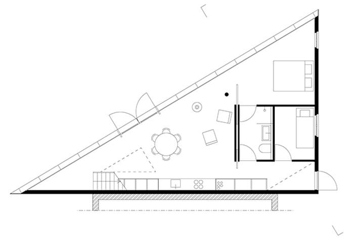 triangular house floor plans