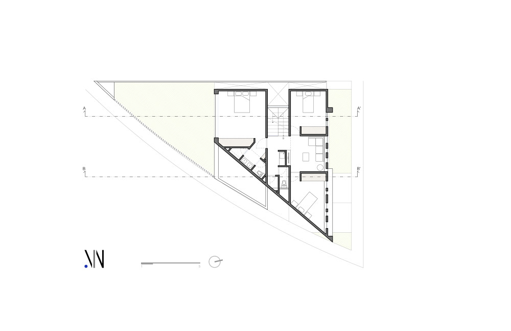 z shaped house design modern style mexico