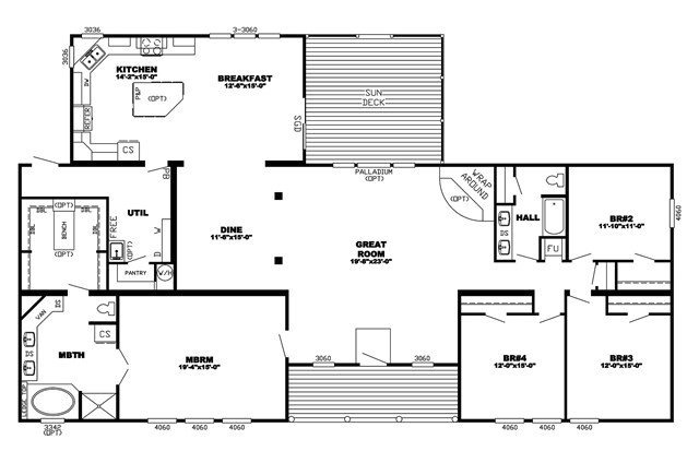 triple wide manufactured homes floor plans home 48971 2
