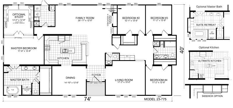 triple wide mobile home floor plans manufactured 25876 2