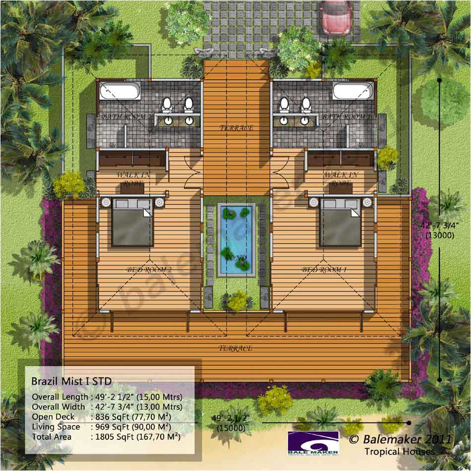 Tropical Home Plans Tropical House Plans with Modern Colors Decorating