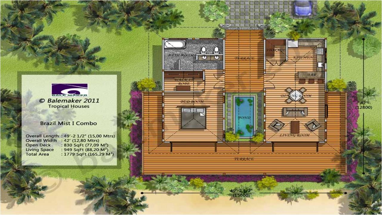 a4a1d94498cb7dac tropical island house plans tropical small house plans