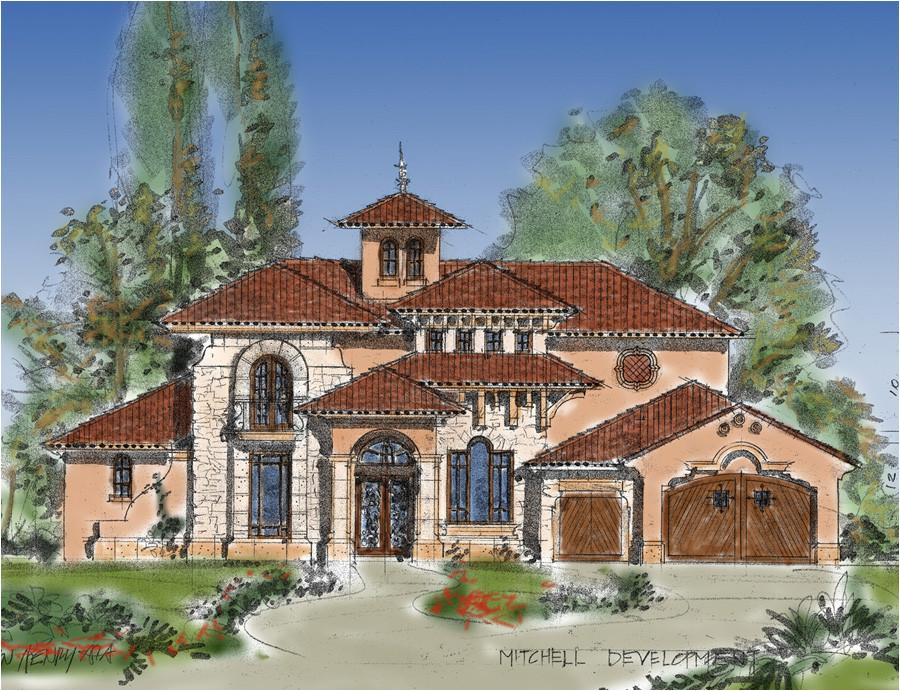 planning design for tuscan mediterranean with warm impression