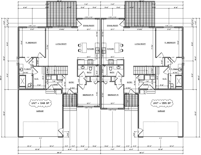 twin home floor plan