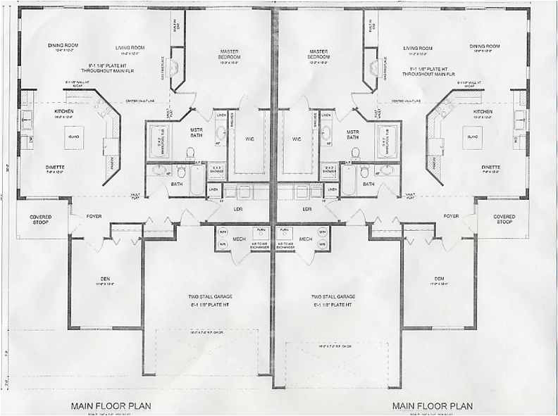 twin home plans