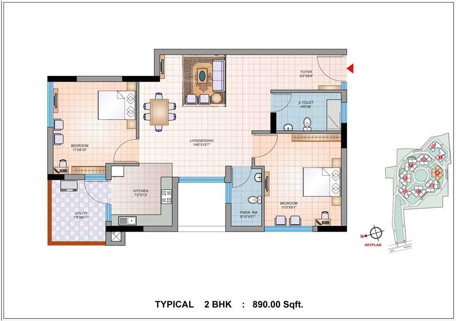 2 bhk house plans