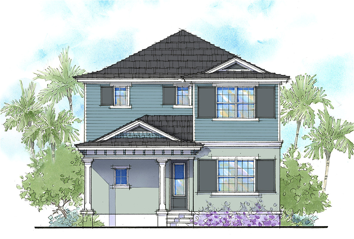 handsome two story florida home 33159zr