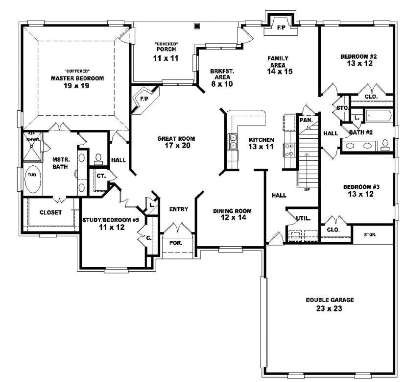 2 story 4 bedroom house floor plans fresh two story 4 bedroom 3 bath french country style house