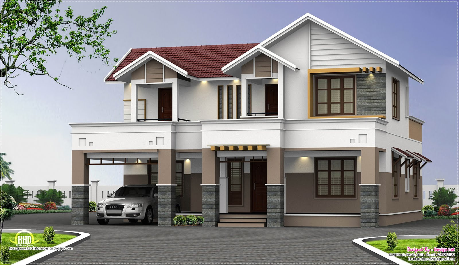 Two Story Home Plans Two Story House Plans Kerala Perspective Series House