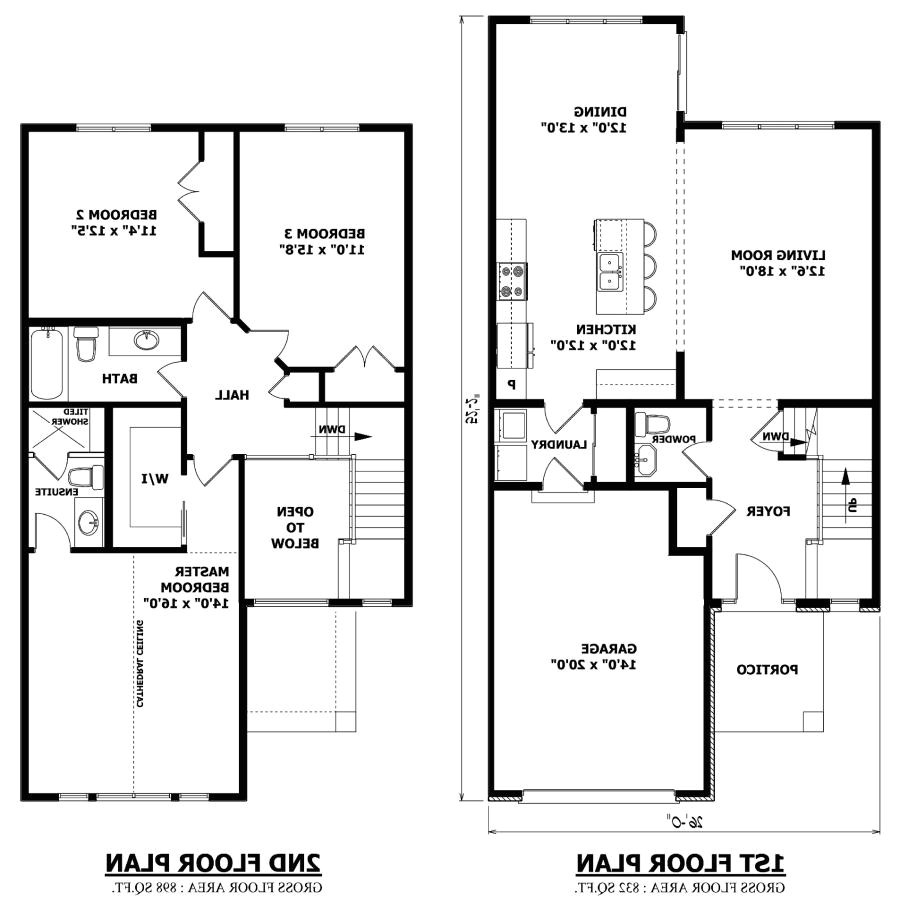 two story house plans with photos