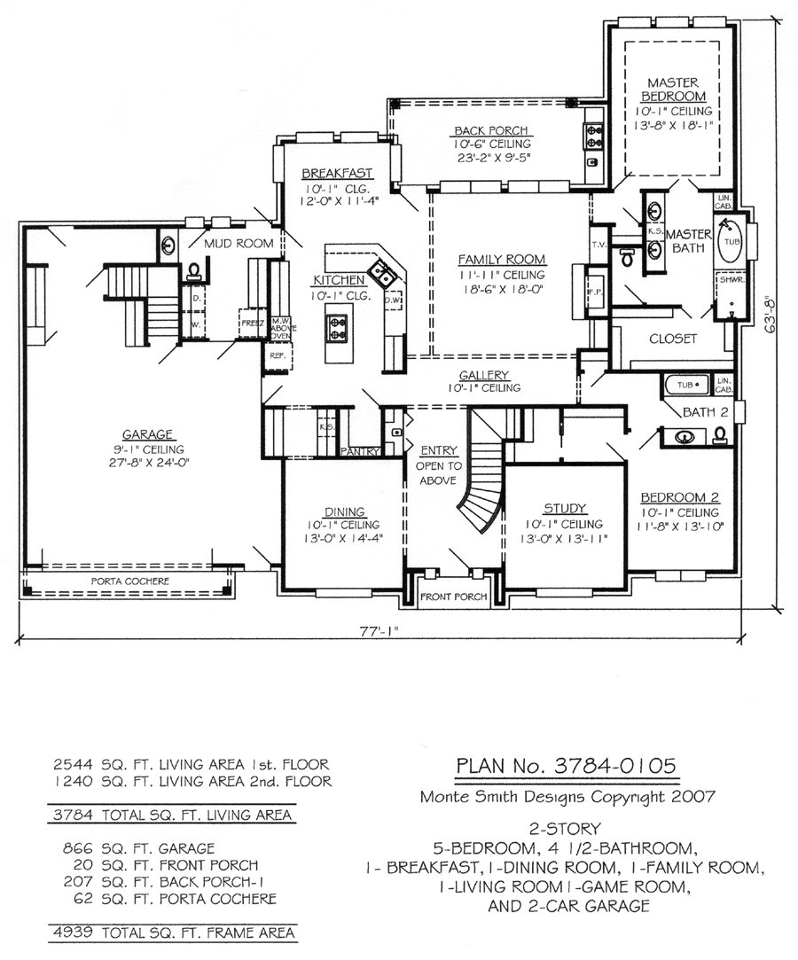 two story living room house plans