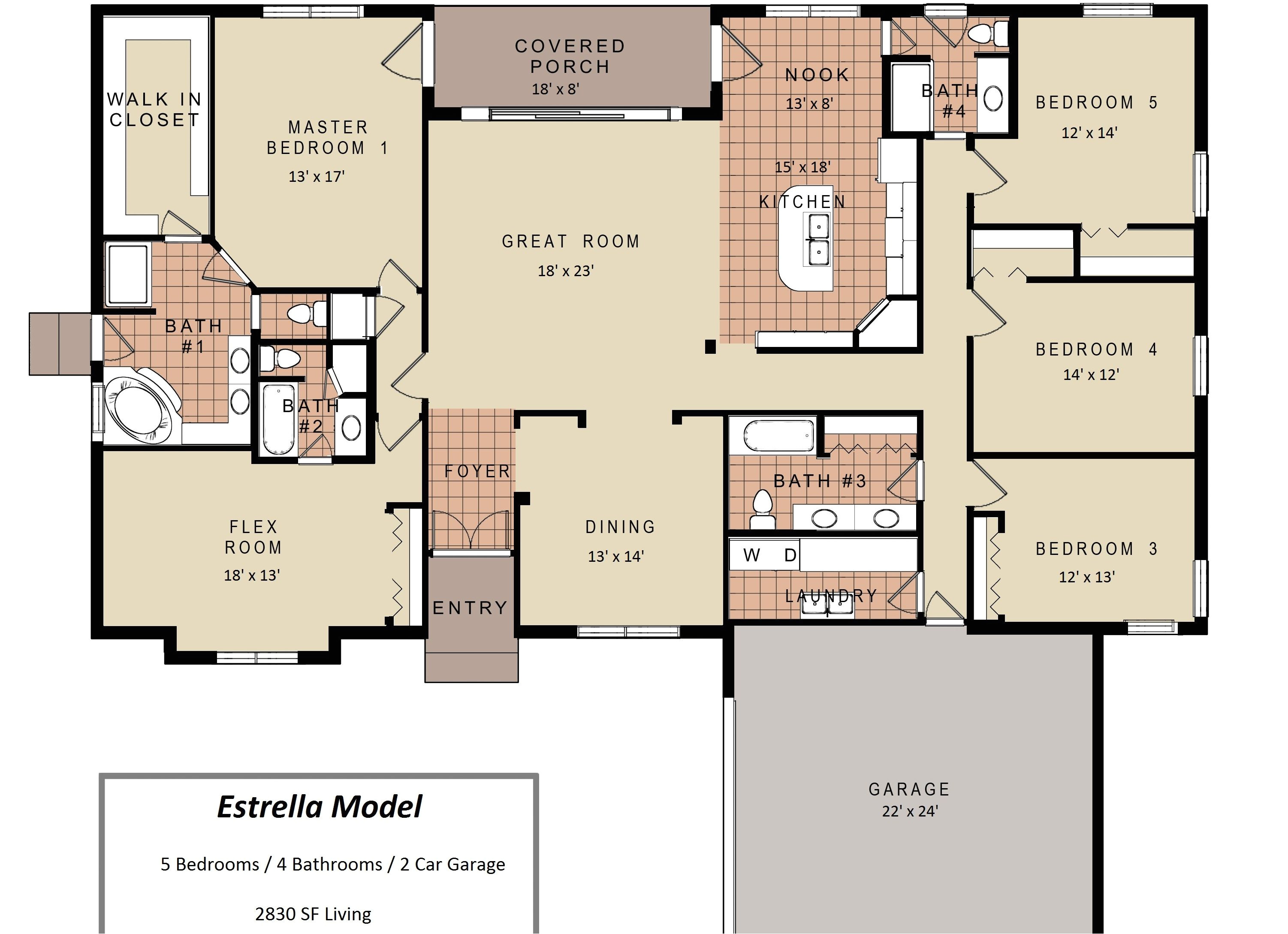 3 bedroom bath house floor plans