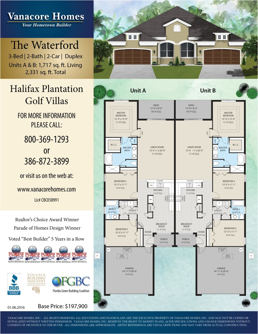 Vanacore Homes Floor Plans 2018 Flagler Parade Of Homes L the Waterford by Vanacore Homes