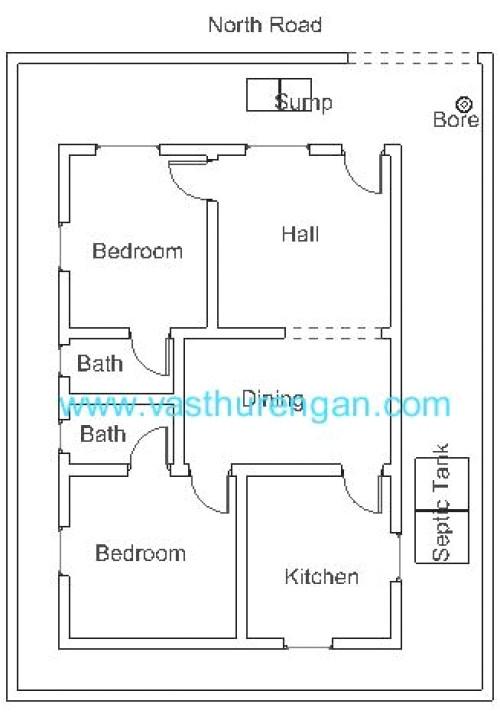 vastu plan for north facing plot 4