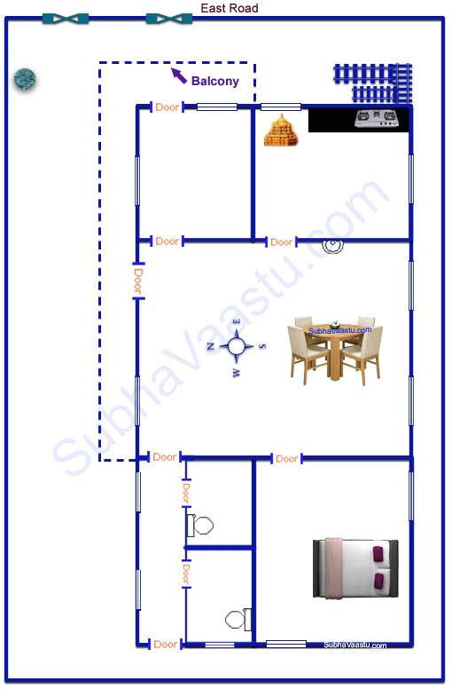 east facing vastu home plan