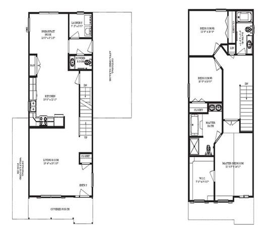 very narrow house plans