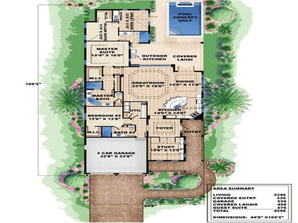 a994cd0091fcaf39 very narrow lot house plans plan w66295we narrow lot cottage florida beach house plans amp home