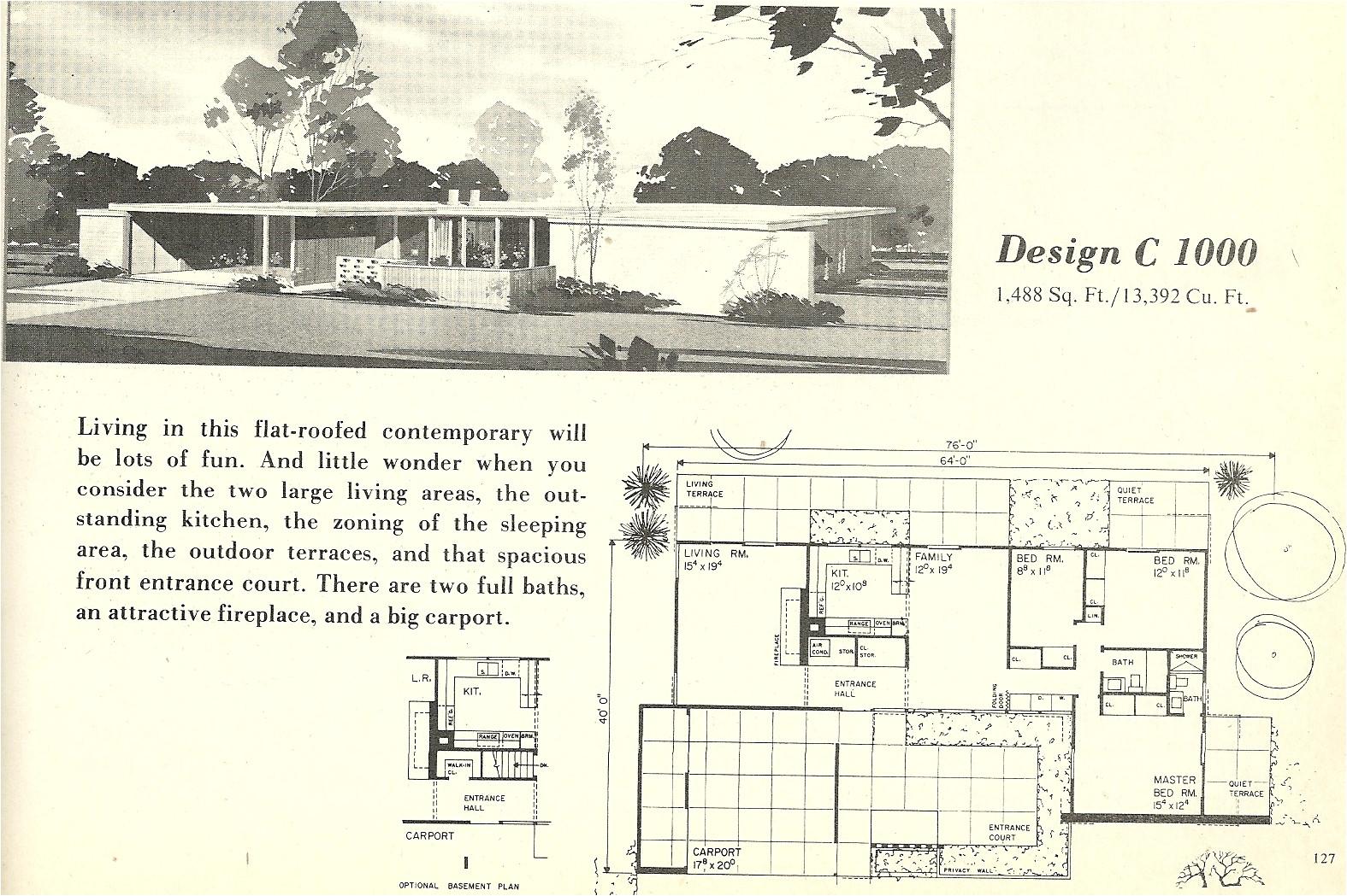 vintage house plans 1000