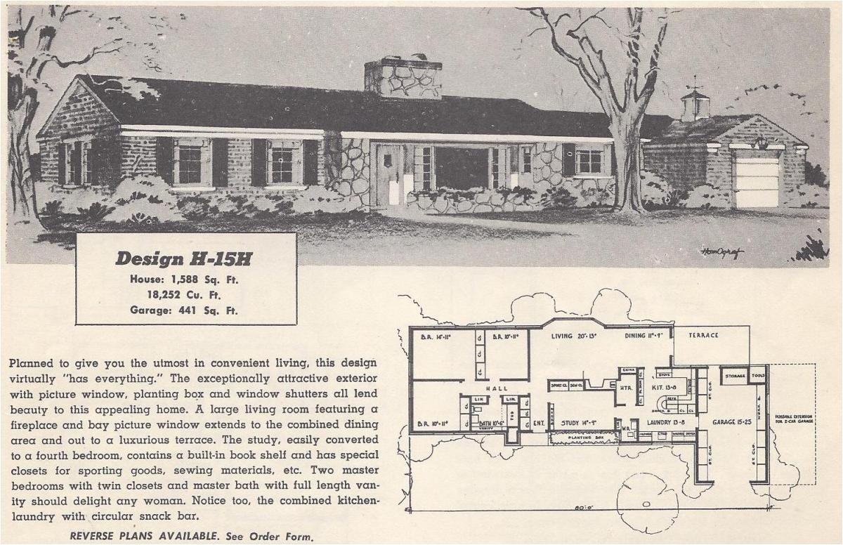 vintage house plans 15h
