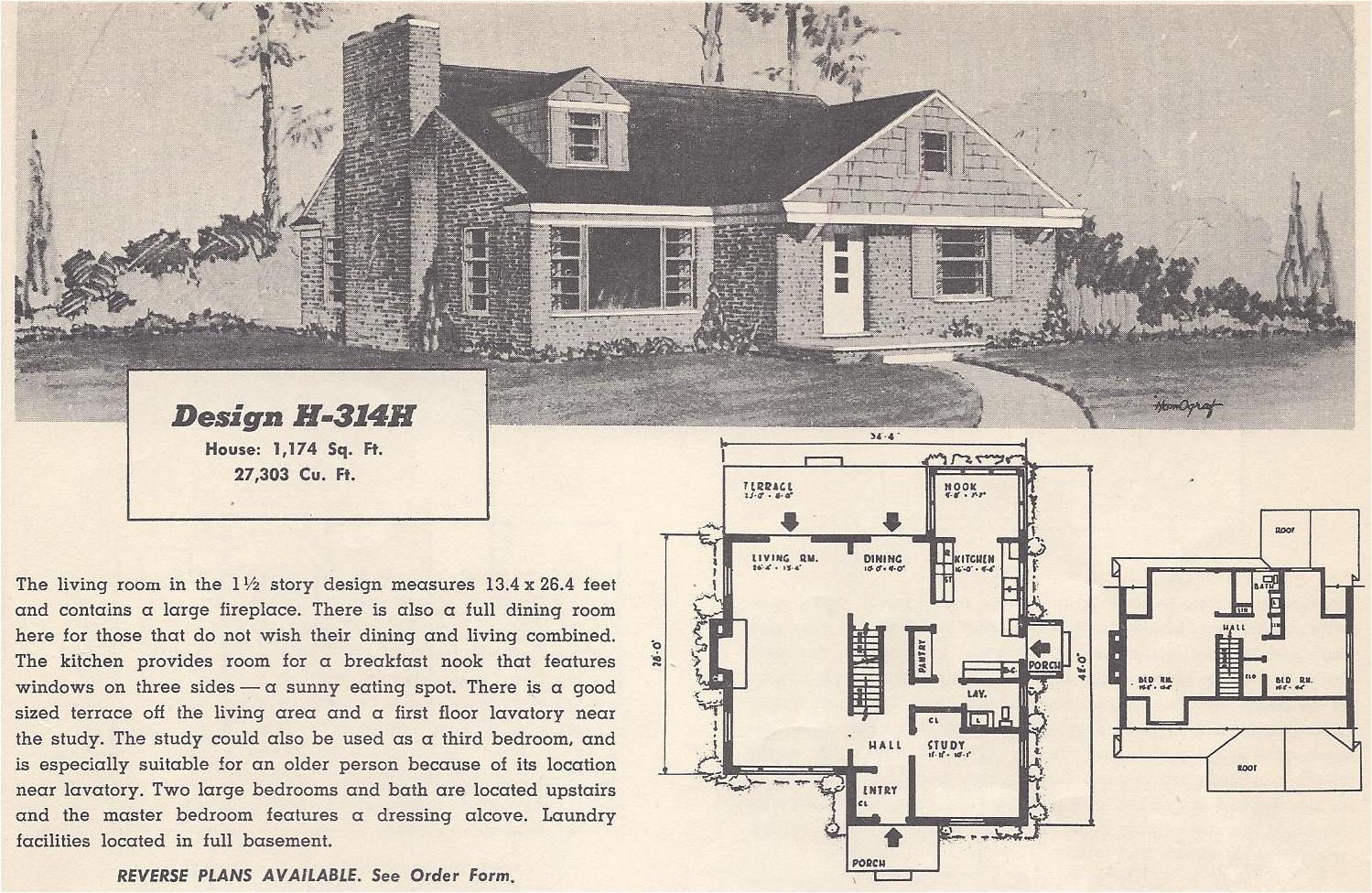 vintage house plans 314h