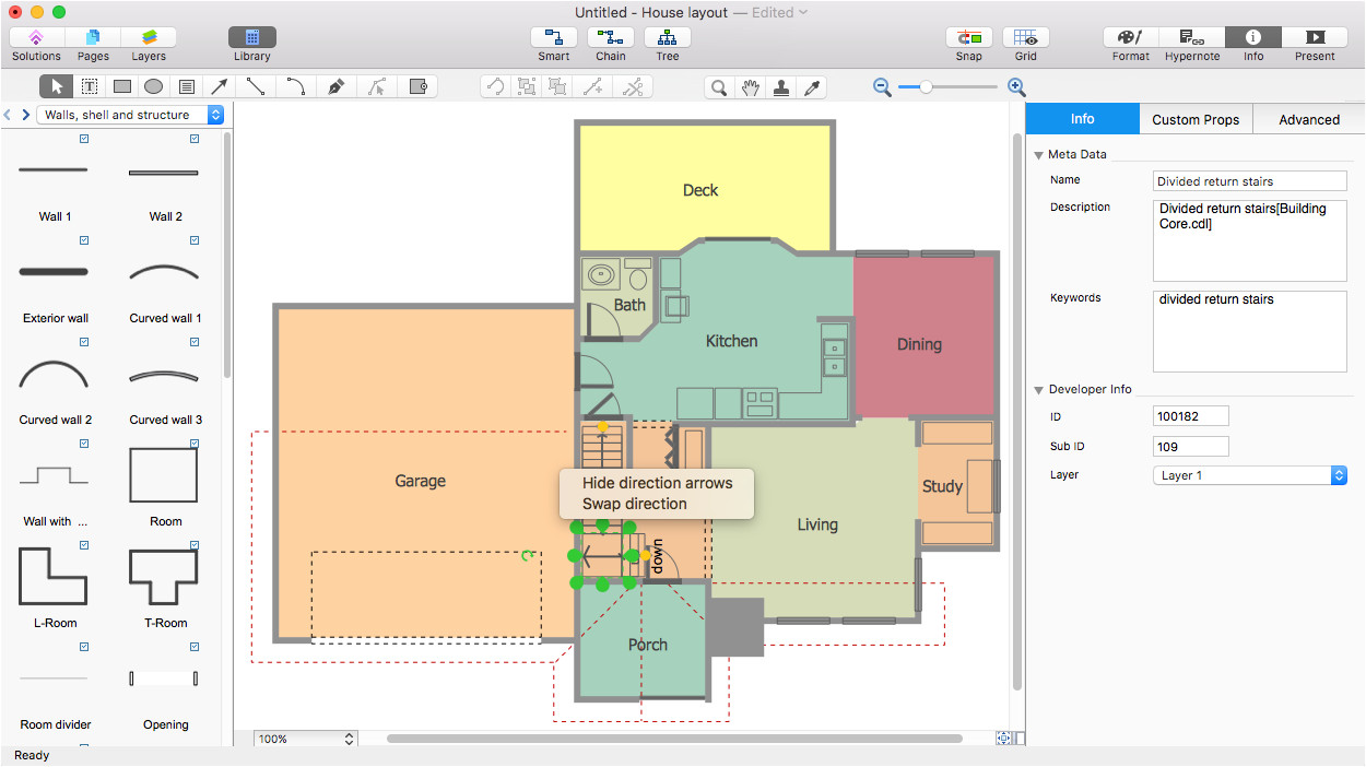 how to create floor plan visio