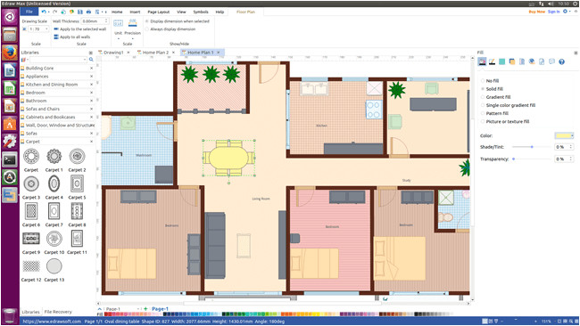 floor plan visio alternative for linux