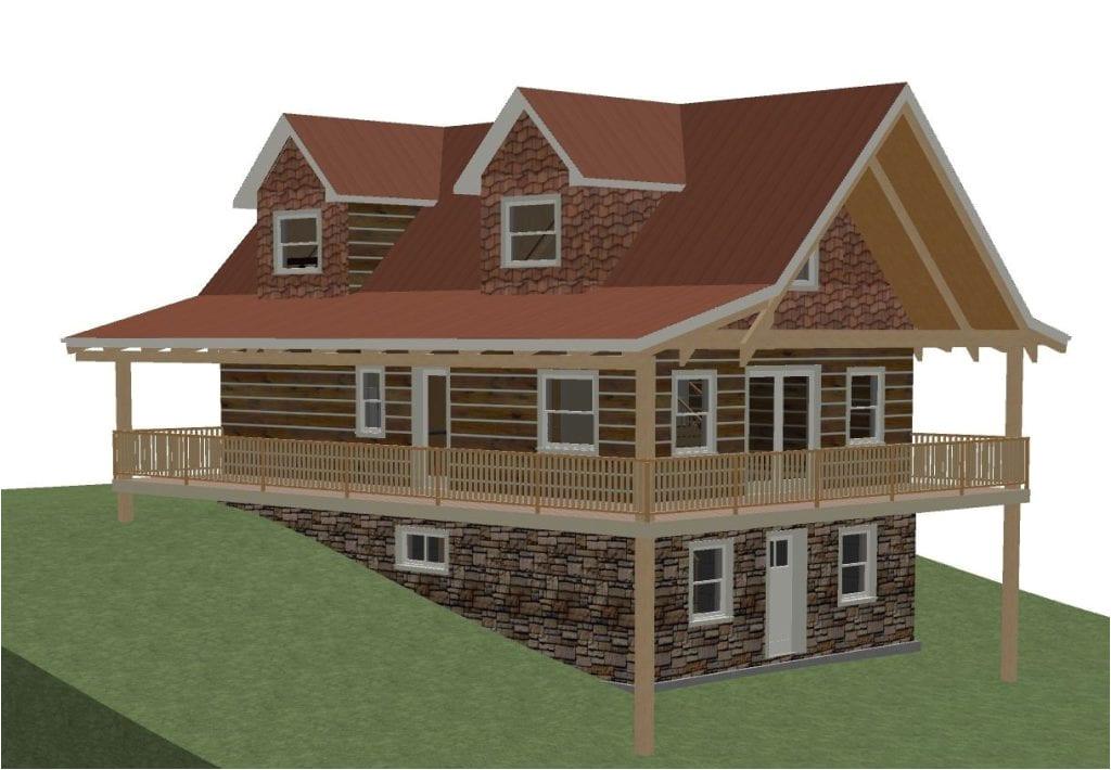 hillside house plans with walkout basement new house plan walkout basement plans