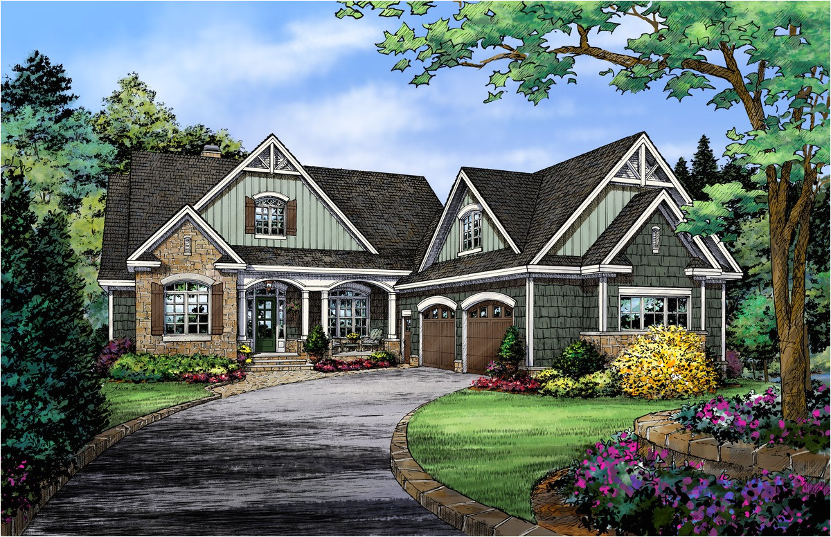 country house plans with walkout basement